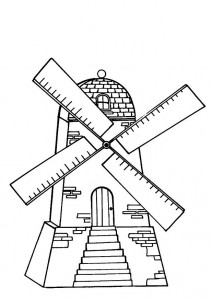 coloring page Windmill (3)