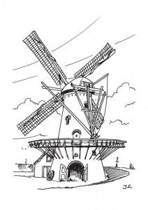 kleurplaat Windmolens (4)