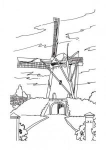 coloring page Windmills (7)