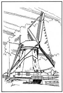 kleurplaat Windmolens (8)