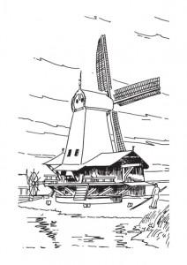 målarbok Vindkraftverk