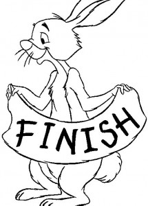 målarbok Winnie the Pooh - Rabbit (3)