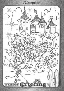coloring page Winter in the Efteling