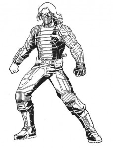 winter soldier coloring page