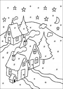 målarbok Vinter