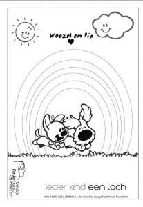 kleurplaat Woezel en Pip (1)