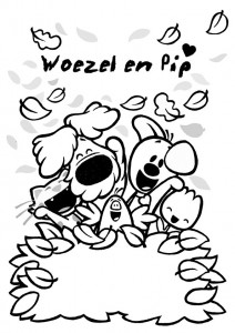 kleurplaat Woezel en Pip (10)