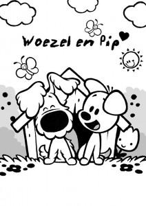 kleurplaat Woezel en Pip (12)