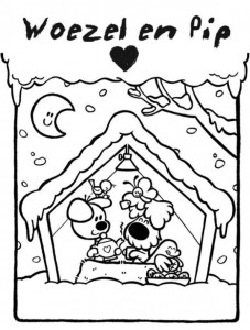 coloring page Woezel and Pip (6)