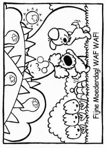 kleurplaat Woezel en Pip (7)