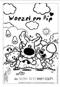 coloring page Woezel and Pip