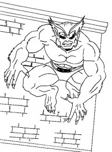 coloring page Wolverine (1)