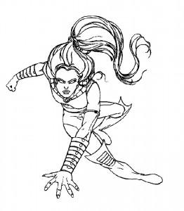 målarbok Wolverine