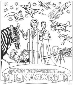 målarbok Wonderwinkel från Mr. Magorium