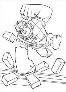 coloring page wreck-it ralph 16