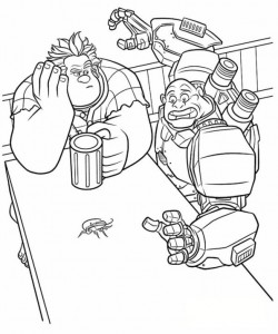 målarbok Wreck-it Ralph 5