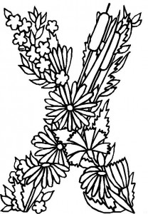coloring page X (1)