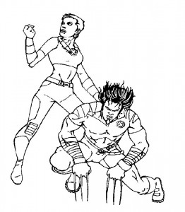Dibujo para colorear X-men (1)