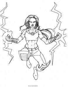 Dibujo para colorear X-men (10)