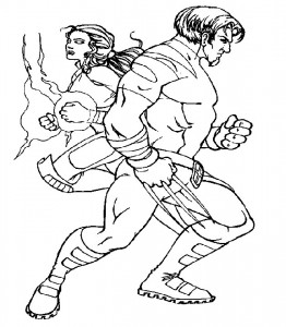 Dibujo para colorear X-men (12)