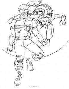 Dibujo para colorear X-men (15)