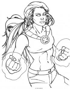 Dibujo para colorear X-men (2)