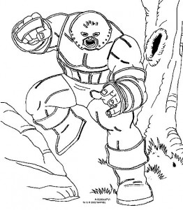 Dibujo para colorear X-men (3)