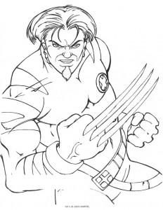 Dibujo para colorear X-men (4)