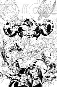 Dibujo para colorear X-men (5)