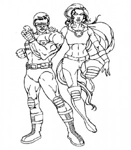 Dibujo para colorear X-men (6)