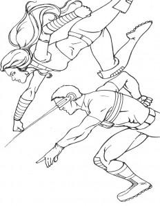 Dibujo para colorear X-men (7)