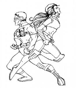 Dibujo para colorear X-Men