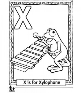 coloring page X Xylophone