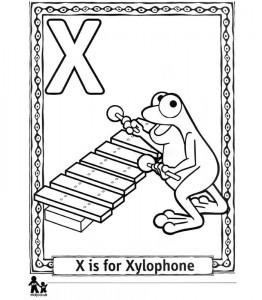 kleurplaat X Xylophone