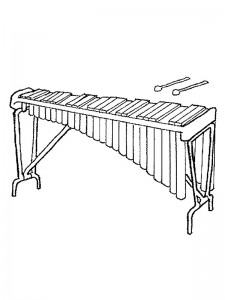 målarbok Xylofon