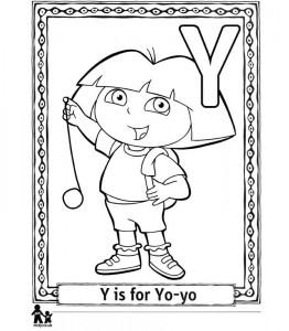 coloring page Y Yo-yo = Jojo