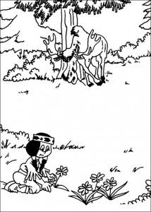 målarbok Yakari och älgen