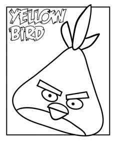 coloring page yellow bird