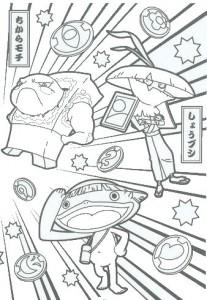 раскраска Yo kai (10)