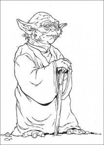pagina da colorare Yoda (1)