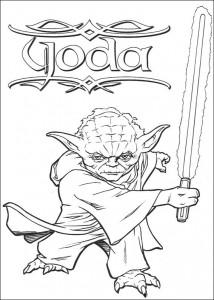 pagina da colorare Yoda (2)