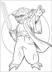 kleurplaat Yoda