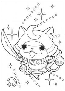 coloring page yokai watch shogunyan