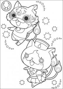 coloring page yokai watch vaillant