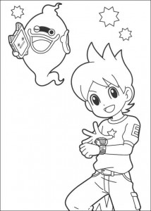 coloring page yokai watch whisper nathan