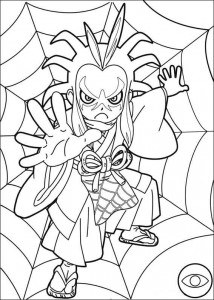 coloriage montre yokai