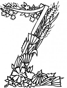 coloring page Z (1)