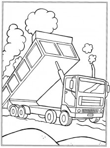 coloring page Sand wagon (1)