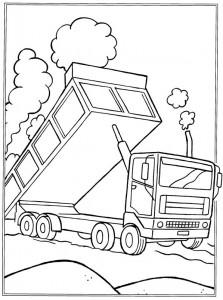kleurplaat Zandwagen (1)