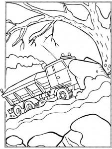 kleurplaat Zandwagen